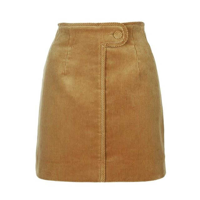 Topshop Otley Cord Mini Skirt