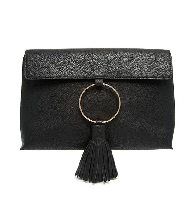 ASOS Tasseled Leather Clutch