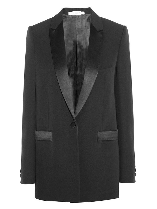 Givenchy Wool Jacket With Satin Detail