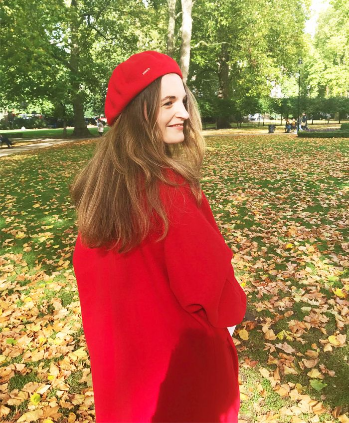 How to wear a beret: Red beret