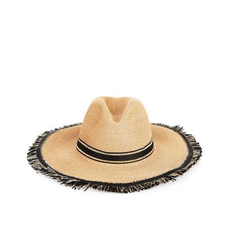Natural & Black Straw Batu Tara Hat