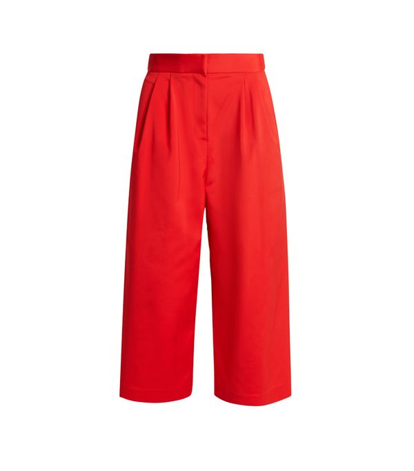 Weekend Style Ideas: Tibi Wide-Leg Faille Cropped Trousers