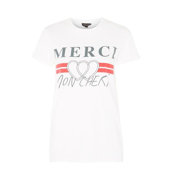 Weekend Style Ideas: Topshop 'Merci' Motif T-Shirt