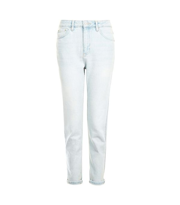 Weekend Style Ideas: Topshop MOTO Bleached Out Mom Jeans