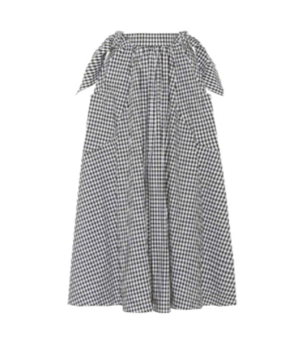 how to wear gingham: Rejina Pyo Daisy Cotton Skirt