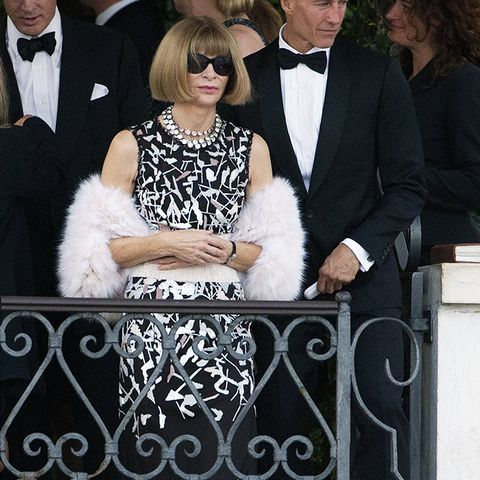 celebrity wedding guest outfits: anna wintour