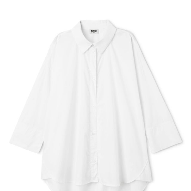 Editors job interview outfits: Weekday white shirt