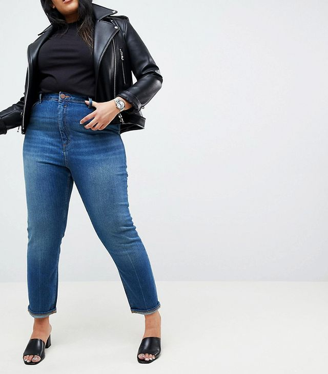 ASOS Curve Farleigh High Waist Slim Mom Jeans