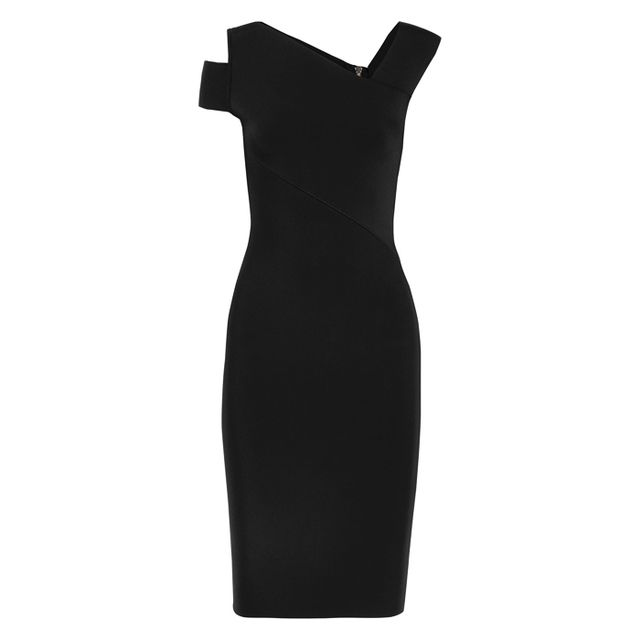 what to wear to an engagement party: roland mouret little black dress