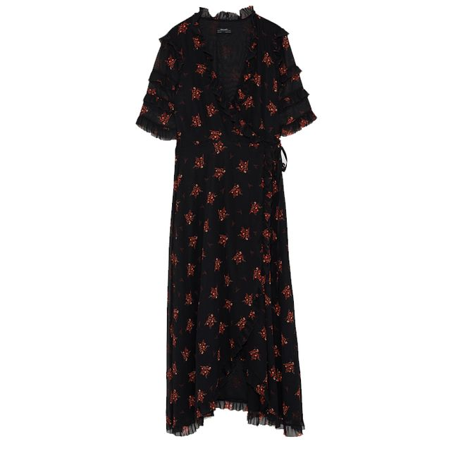 what to wear to an engagement party: zara floral print dress