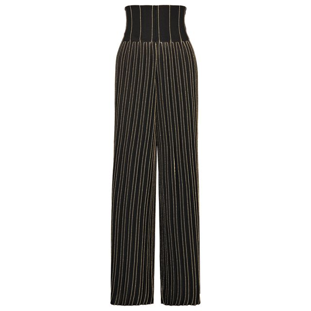 what to wear to an engagement party: balmain stripe trousers