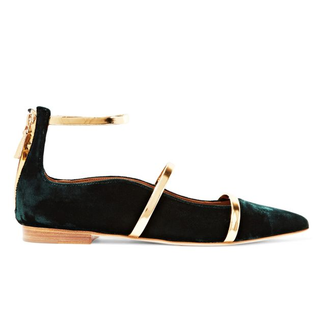 what to wear to an engagement party: malone souliers flat shoes
