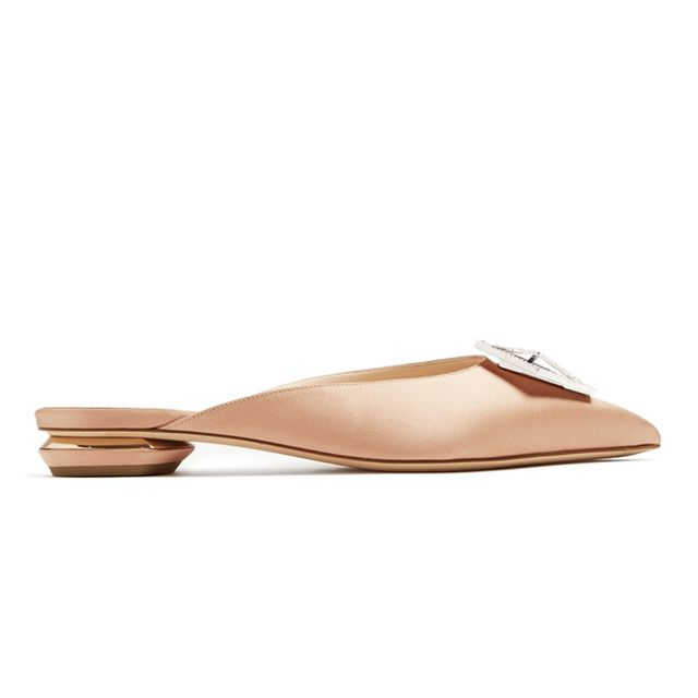 what to wear to an engagement party: nicholas kirkwood flat shoes