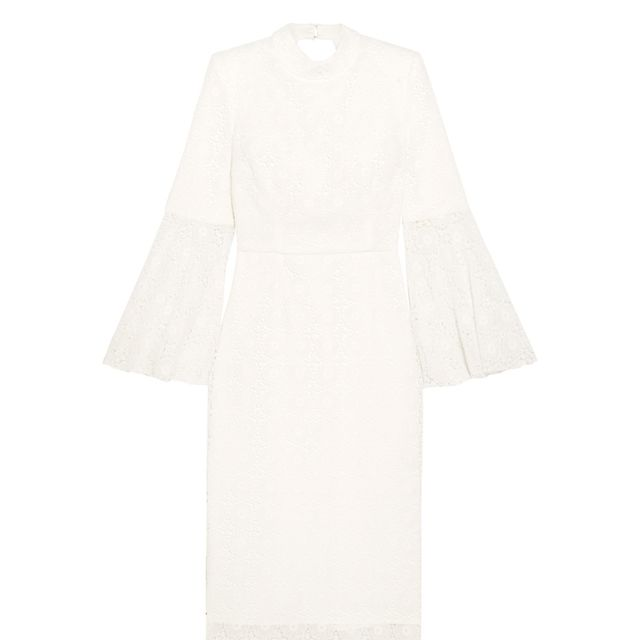 what to wear to engagement party: Rebecca Vallance white dress