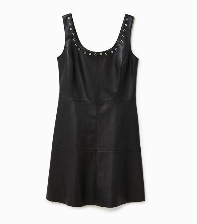 celebrity slimming style types: Mango Piercing Detail Dress
