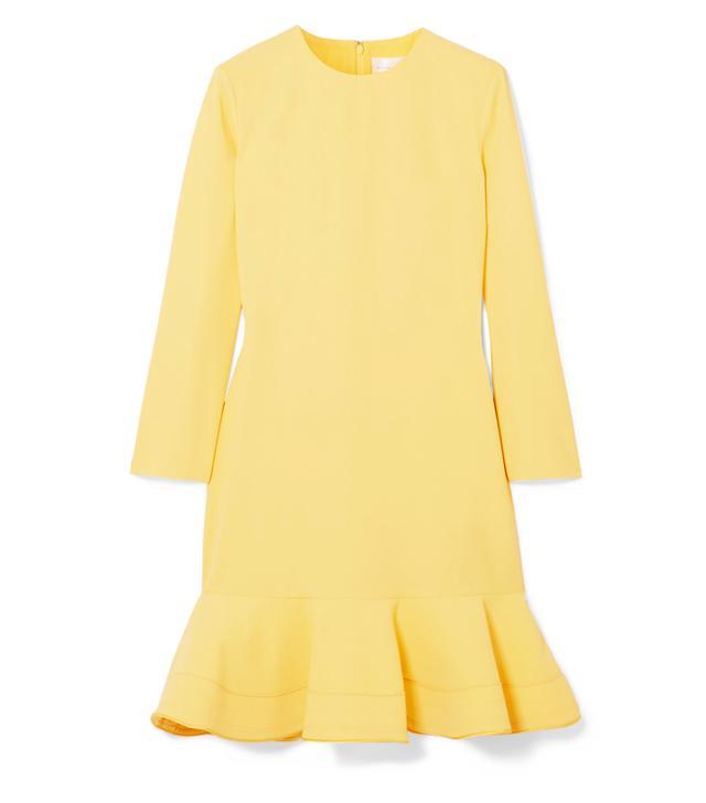 celebrity slimming style types: Victoria, Victoria Beckham Flared Crepe Mini Dress
