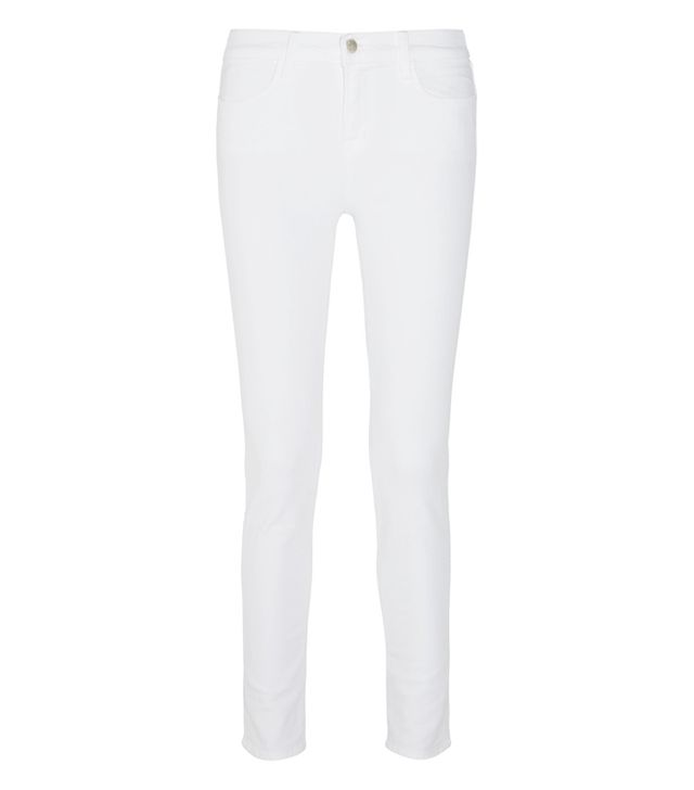 celebrity slimming style types: J Brand Maria High-Rise Skinny Jeans