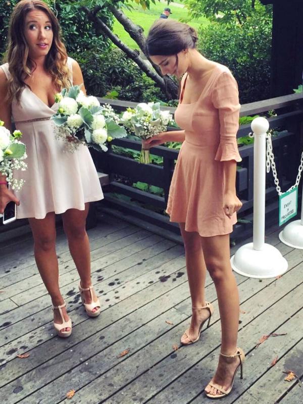 Celebrity bridesmaids dresses: Emily Ratajkowski