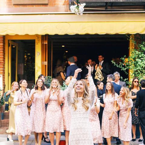 Celebrity bridesmaids dresses: Harley Viera Newton