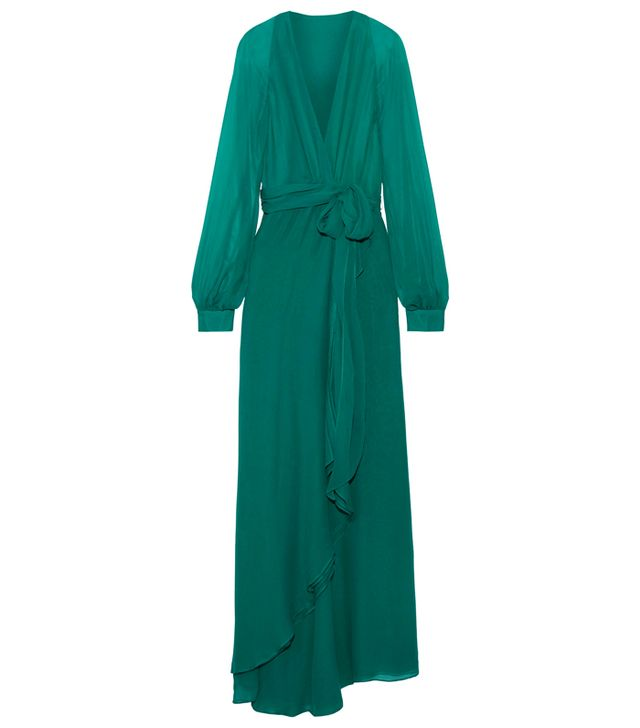 Best dress for my body type: Haney Coco Silk Wrap Maxi Dress
