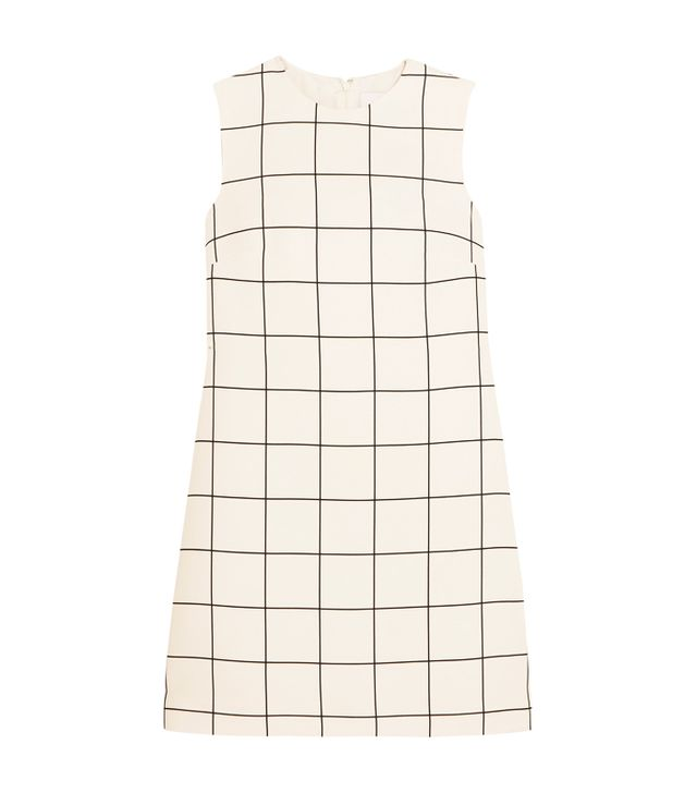 Best dress for my body type: Valentino Checked Crepe Mini Dress