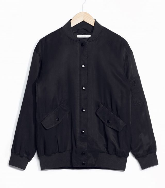 & Other Stories Lustrous Bomber Jacket