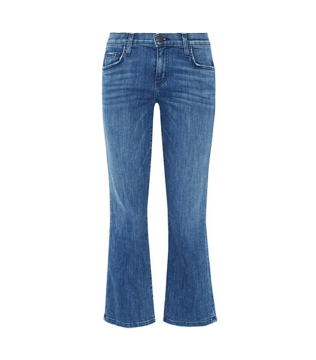 Current/Elliot The Kick Cropped Mid-Rise Flared Jeans
