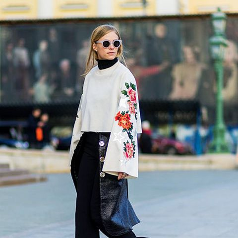 layering clothes: a black roll neck will work under almost anything