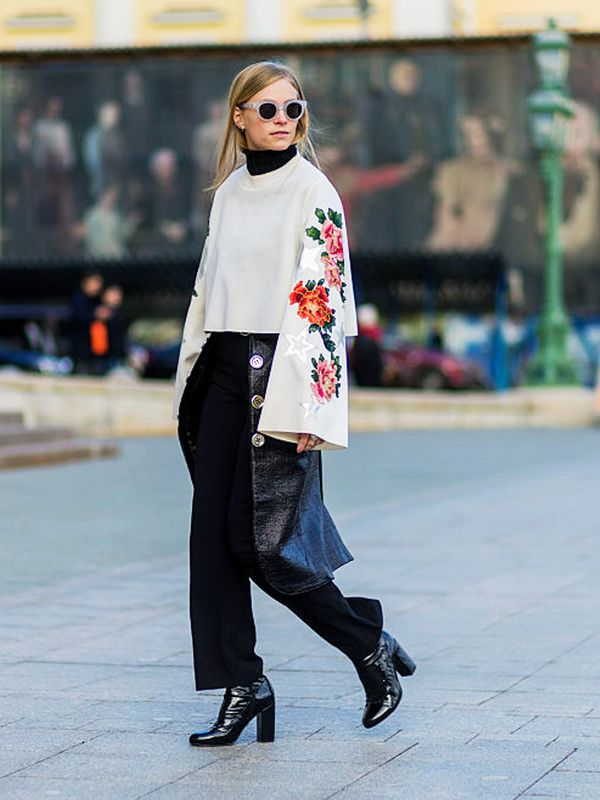 layering clothes: A black roll-neck will work under almost anything