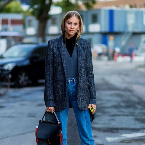 layering clothes: wear two lightweight knits