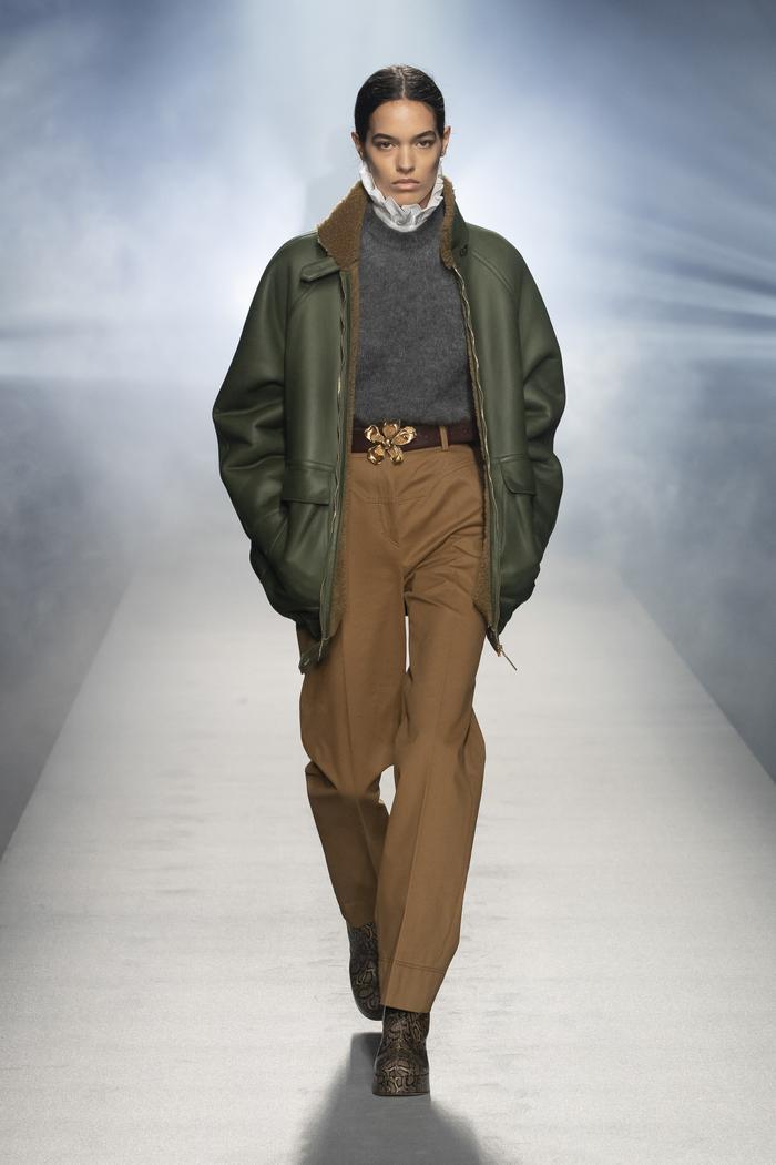 Layering clothes: Alberta Ferretti
