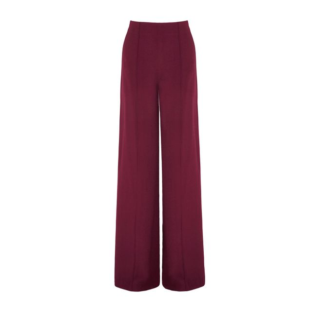 Colours that look good with brown: Adam Lippes Crepe Wide-Leg Pants
