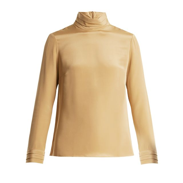 Colours that look good with brown: Goat Eve Silk-Crepe Blouse