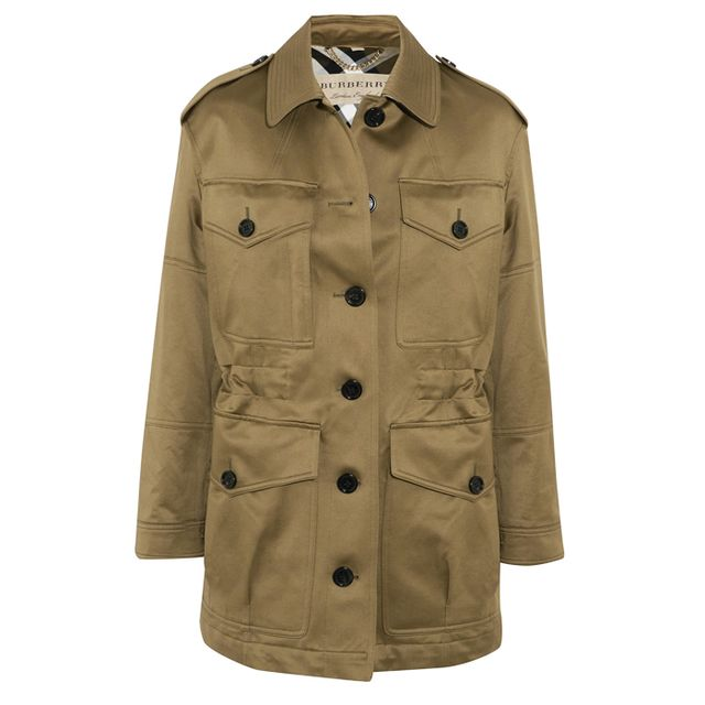 Colours that look good with brown: Burberry Cotton-Sateen Jacket