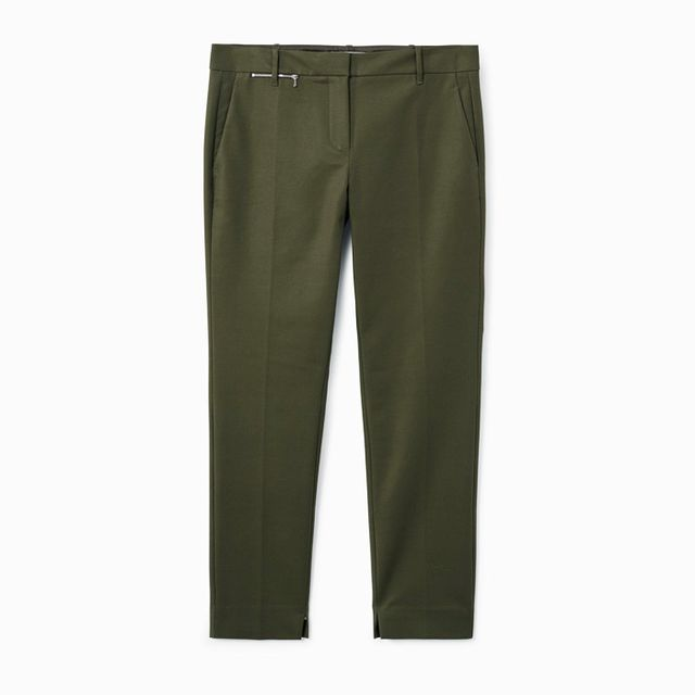 Colours that look good with brown: Mango Zipped Straight Trousers