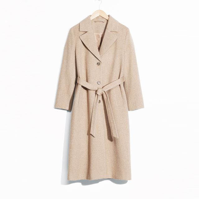 Colours that look good with brown: & Other Stories Long Waisted Wool Coat
