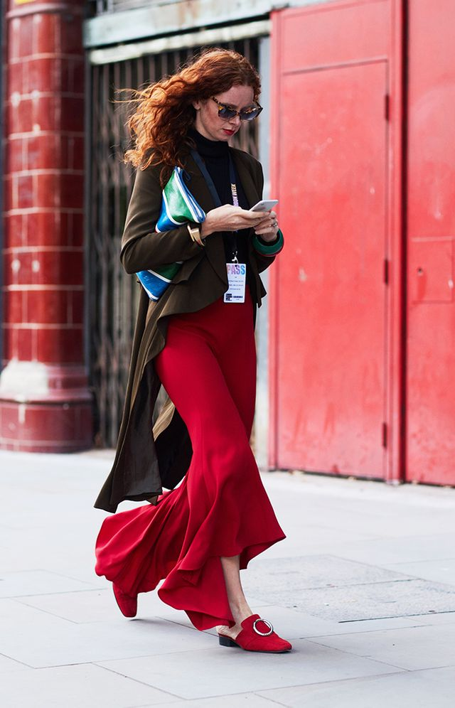 Simple Style Rules: woman with red trousers
