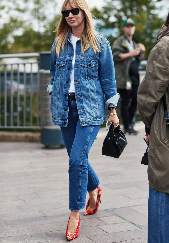 Simple Style Rules: Lisa Aiken in double denim