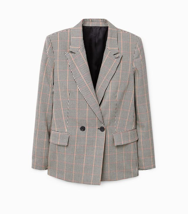 Simple Style Rules: Mango Check Structured Blazer