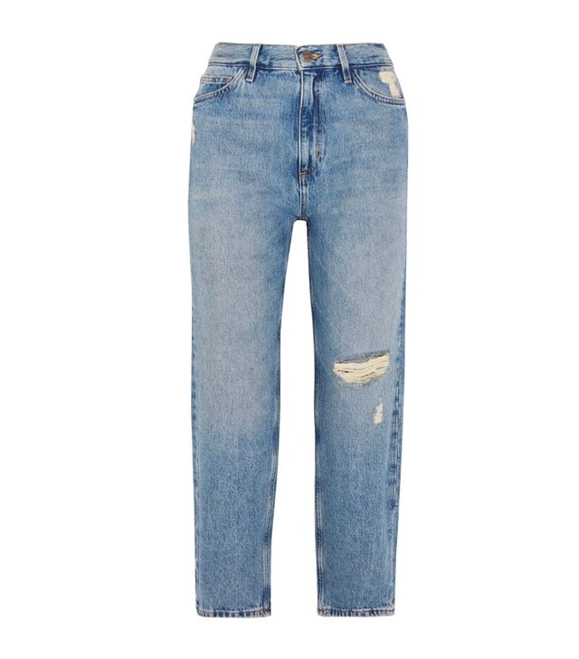 Simple Style Rules: M.i.h. Jeans Jeanne High-Rise Cropped Distressed Straight-Leg Jeans