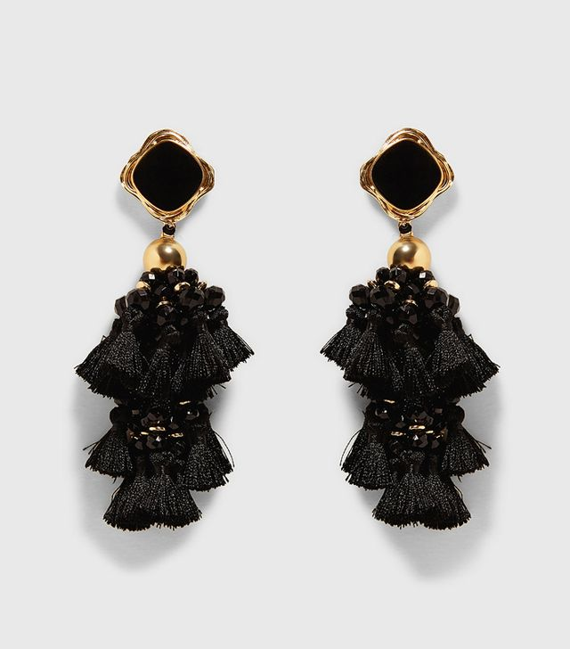 Simple Style Rules: Zara Stone Pompoms Earrings