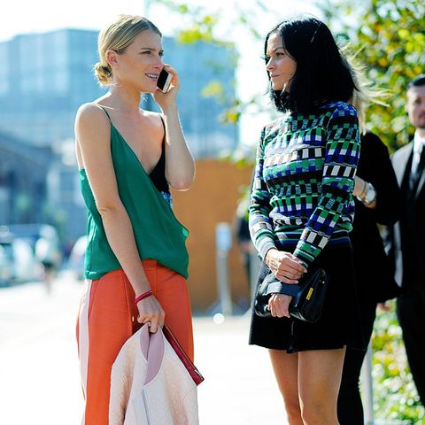 Colours that suit blondes: Dree Hemingway in emerald green