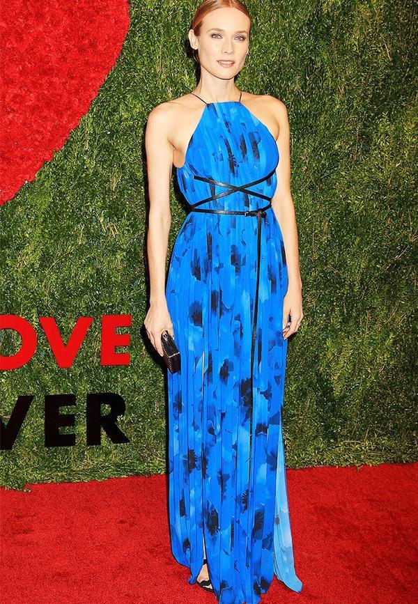 Colours that suit blondes: Diane Kruger in cobalt blue