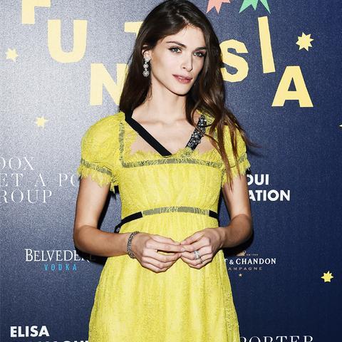 Colours That Suit Brunettes: Elisa Sednaoui in pale yellow