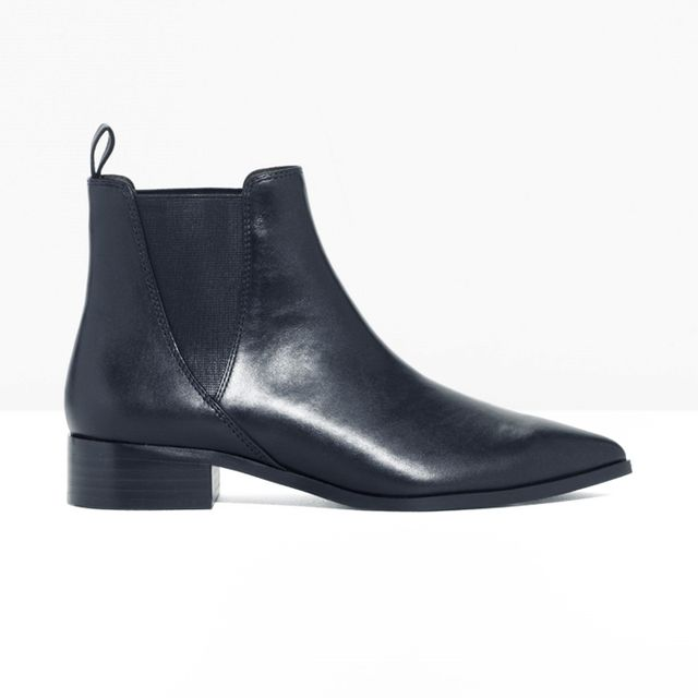 what boots to wear with skinny jeans: & Other Stories Leather Chelsea Boots