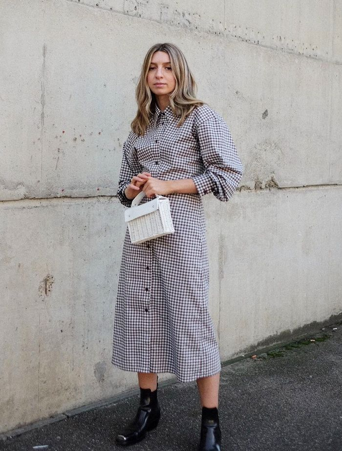Ankle Boots with Dresses: Give shirt dresses edge with western boots
