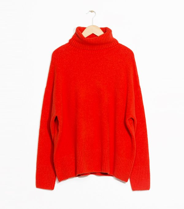 how to wear a turtleneck: & Other Stories High Neck Sweater