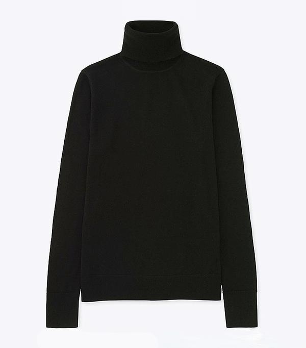 How to Wear a Turtleneck: Uniqlo Women Extra Fine Merino Turtle Neck Sweater