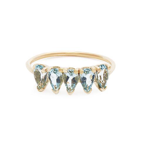 Aquamarine & Yellow-Gold Ring