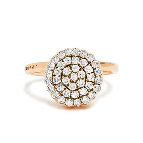 Diamond & Pink-Gold Beirut Ring